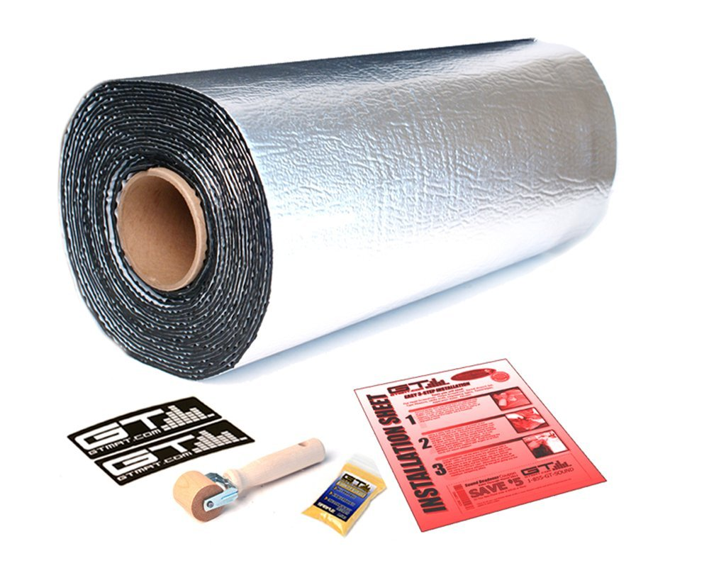 GTMat Supreme 110mil Automotive Sound Deadener 2 Rolls of 18''x32'' Rolls Heat Insulation Road Noise Dampener