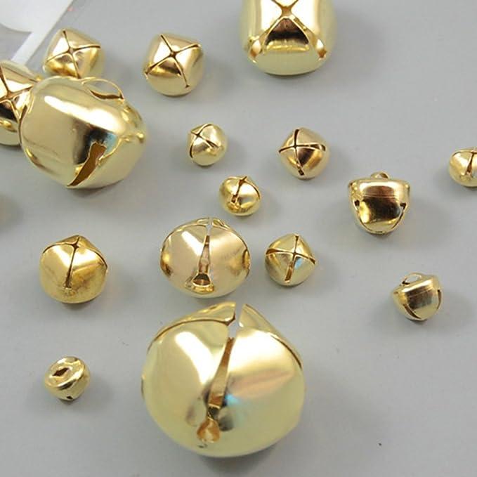 ROSENICE Natale Jingle Bell 25mm Gold Cross Jingle Bells per lalbero di Natale Artigianato Gioielli 50pcs