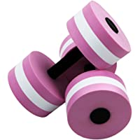 ROSENICE Fitness Water Dumbbells Aqua Dumbbell EVA Foam Water Fitness Equipment 2PCS (Pink)