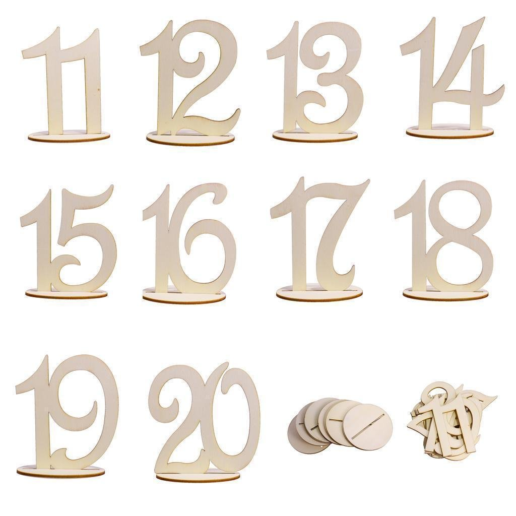 1-20 Wooden Wedding Table Stands for Anniversary Birthday Graduation Party Decoration, Paintable by Elehere (Image #2)