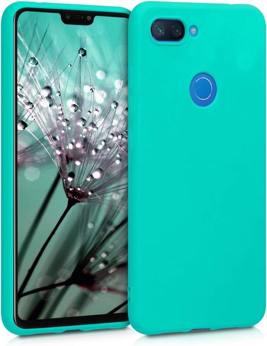 kwmobile Funda Compatible con Xiaomi Mi 8 Lite - Carcasa de TPU Silicona - Protector Trasero en Turquesa neón