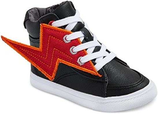6 Boys Fashion Sneakers Lightning Bolts Cat /& Jack ODIS