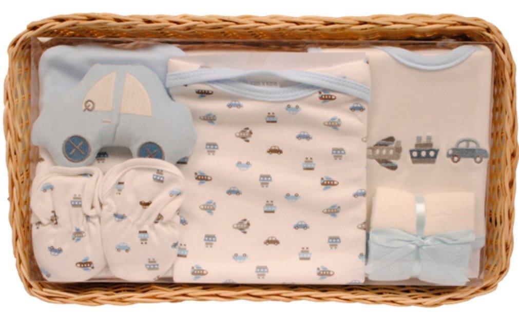 zur Geburt Baby Jungen Geschenkset blau Taufe Pr/äsentkorb
