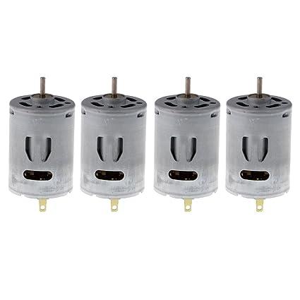 Homyl 4x Motor eléctrico con 2 terminales de soldadura para Modelo de motor RC de CC