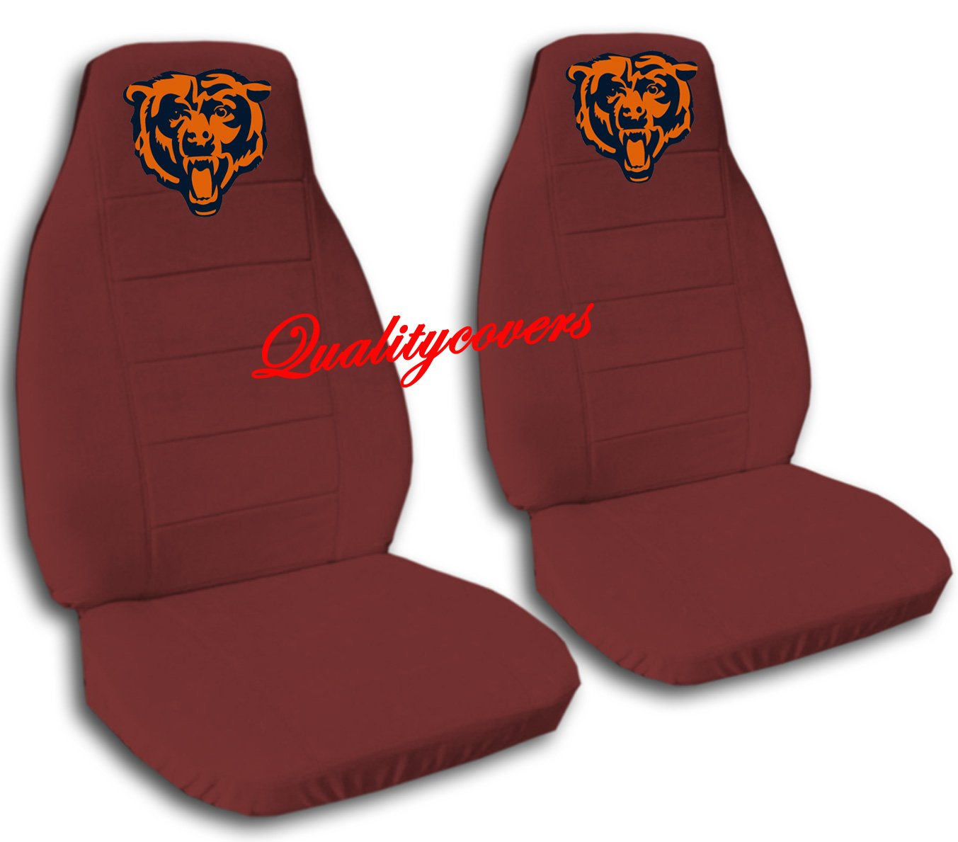 2 Burgundy Chicago seat covers for a 2007 to 2012 Chevrolet Silverado. Side airbag friendly.