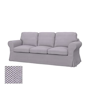 Amazon.com: Soferia   Replacement Cover For IKEA EKTORP PIXBO 3 Seat Sofa Bed,  Nordic Light Grey: Home U0026 Kitchen