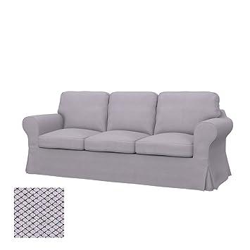 Amazon De Soferia Bezug Fur Ikea Ektorp 3er Sofa Nordic Light Grey