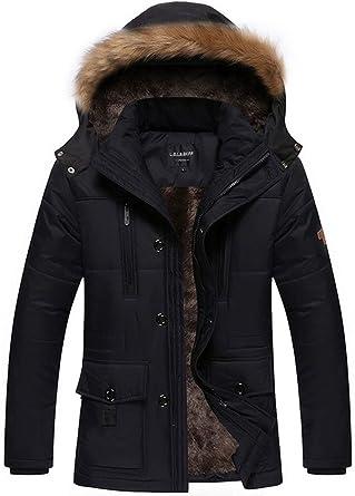 Fashciaga Men's Winter Hooded Faux Fur Lined Coats at Amazon Men's ...