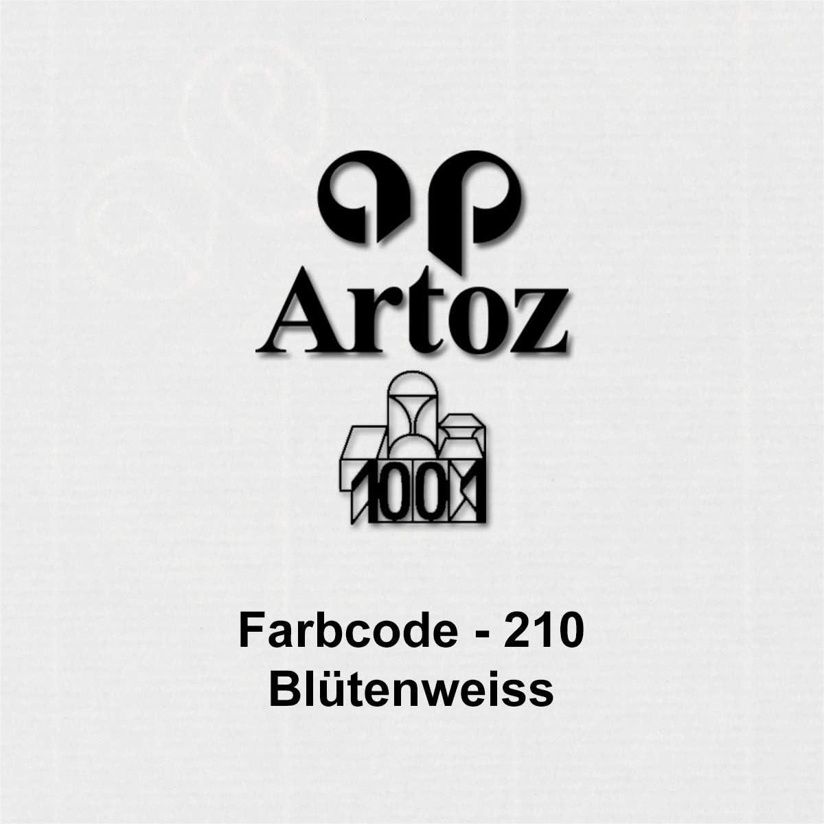 Spitze Verschlusslasche ARTOZ 25x Briefumschl/äge gerippt Umschl/äge mit Nassklebung Bl/ütenwei/ß DIN B6 178 x 125 mm Kuvert ohne Fenster
