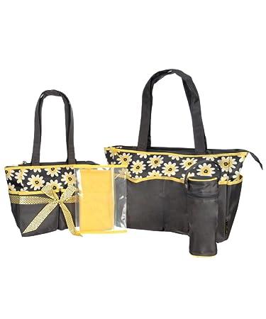 5f838e242a Amazon.com : Baby Boom 5-in-1 Diaper Bag Set, Floral Print : Baby