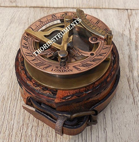 THORINSTRUMENTS (with device) Brass Sundial Compass - Pocket Sundial -Brass Antiques West London TH08895 ()