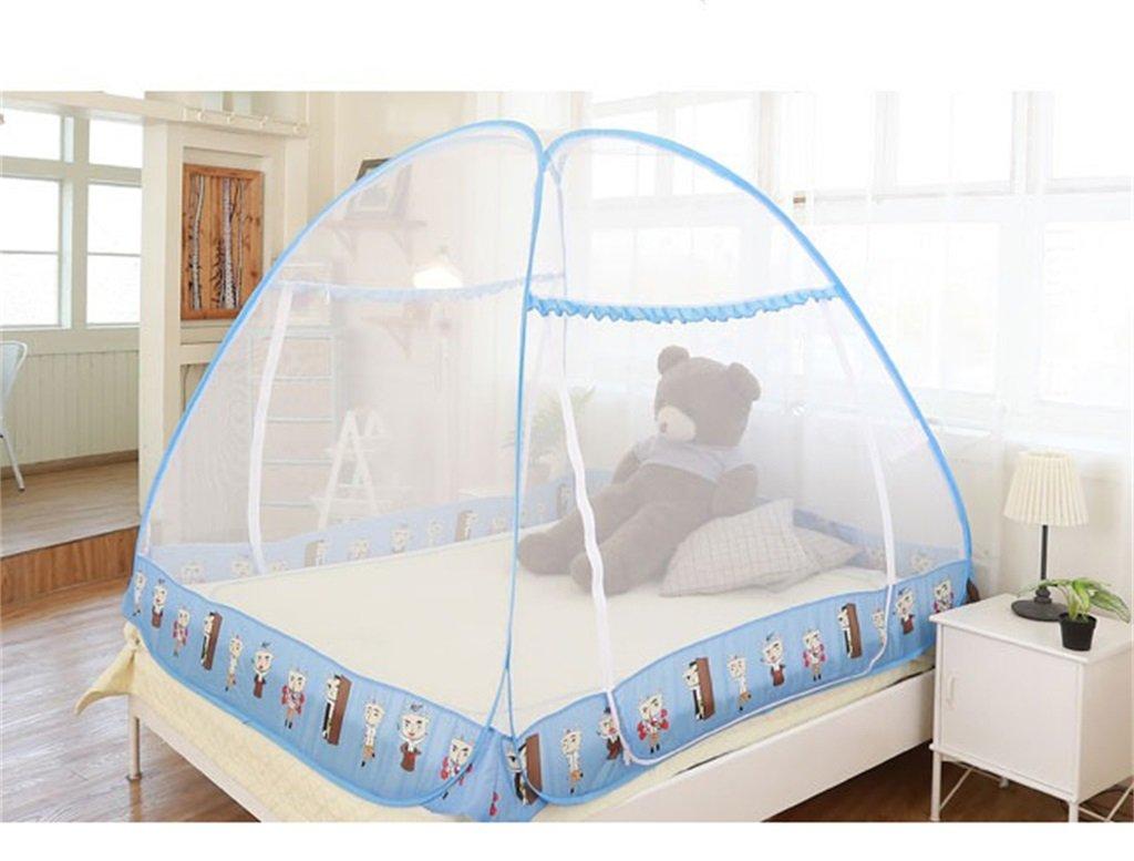 Moskitonetz-Bett-Überdachungs-Zelt-Vorhänge für Betten Schlafzimmer frei zu installieren faltender Reißverschluss-tragbarer Innenkampierender Student im Freien anwenden to1.2 / 1.5 / 1.8m Bett