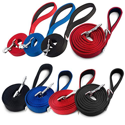 PetsLovers-Premium-Dog-Leash-Heavy-Duty-Strap-Padded-Handle-Ambient-Colors-6-Feet-Long-1-Inch-Wide