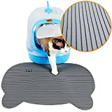 Vndaxau Cat Litter Trapper Mat Waterproof,Kitty Mat for Litter Box Large Size,Soft On Paws,Scatter Control,Easy to Clean(Gray)