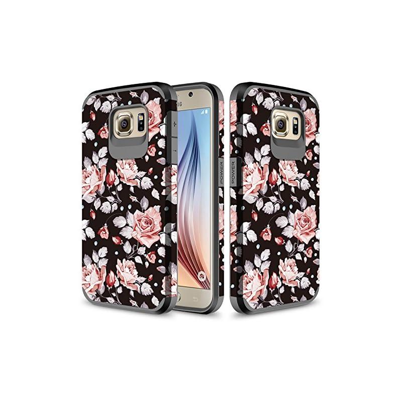 Galaxy S6 Case, TownShop Hard Impact Dua