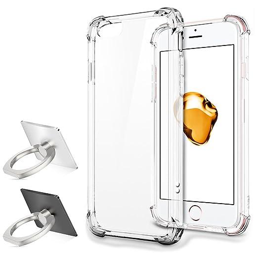 33 opinioni per Custodia protettiva per iPhone 7 plus con 2 Anello Phone Stand, Senhai antiurto