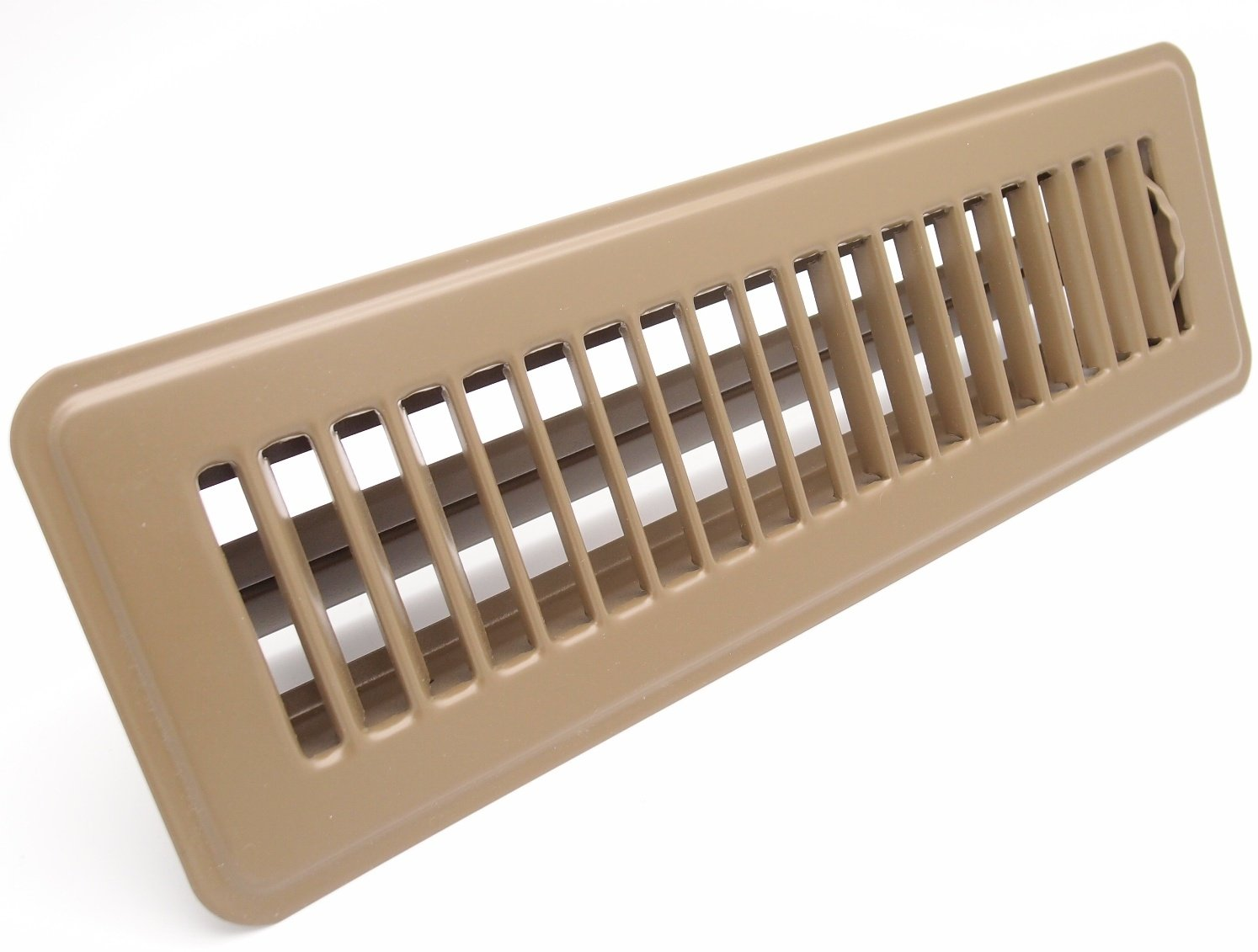 4 X 12 Floor Register with Louvered Design Brown HVAC Premium CECOMINOD047872 Heavy Duty Rigid Floor Air Supply with Damper /& Lever
