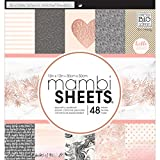 Me & My Big Ideas Darice MAMPADX.292 MAMBI Sheets Cdstk Pad 12 x 12 Rose Gold