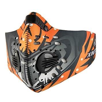 Máscara de ciclismo de carbón activado, antipolvo, anticontaminación para bicicleta, al aire libre