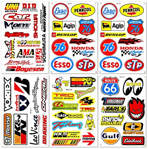 Decals & Stickers Vintage Motor Bike Vinyl Sticker Pack