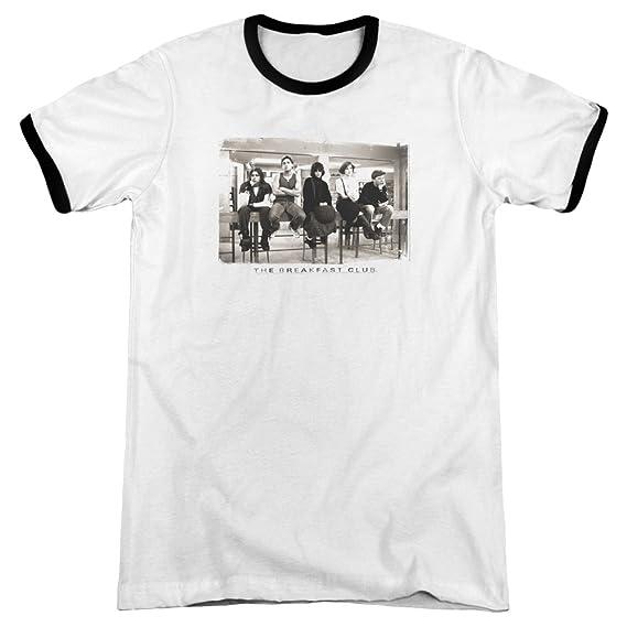 bf74306c8 Breakfast Club - Mens Mugs Ringer T-Shirt, Small, White/Black ...