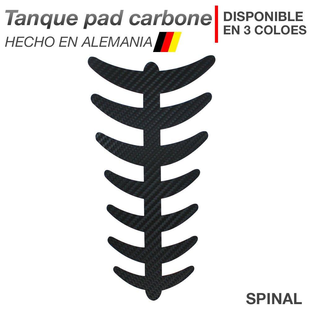 Motoking tanque pad carbone 'SPINAL' - tanque de la motocicleta y la protecció n de la pintura universal - disponible en 3 colores - ANTRACITA