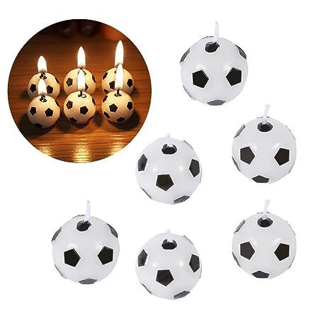 Oumij 6 Piezas de Velas de Cumpleaños, Fútbol Balón de ...