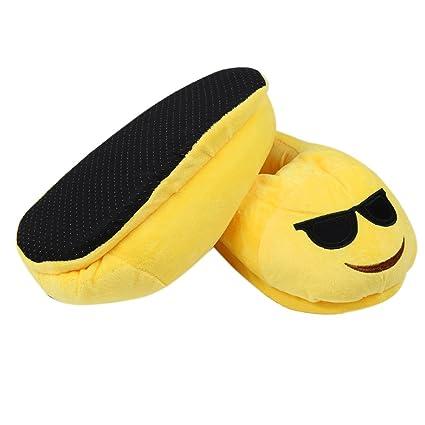 bb588e34c493 Amazon.com   Ferdira Emoji Slippers