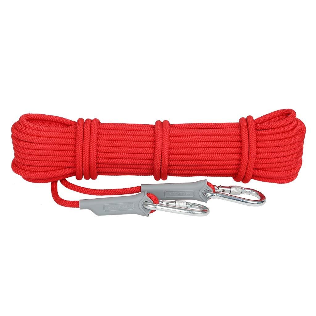 Diameter -12mm Corde Diamètre de d'escalade Rouge extérieur - 9.5mm, 12mm, Longueur - 10m   20m   30m   40m   50m   100m, de sécurité de Sauvetage, en polypropylène de Haute résistance. 40m