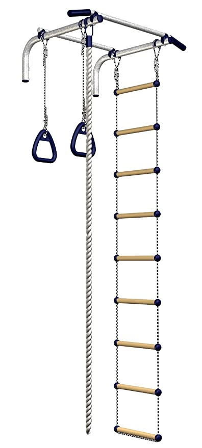 amazon com wall mounted pull up bar chinning set gymnastic ringsimage unavailable image not available for color wall mounted pull up bar chinning set gymnastic rings