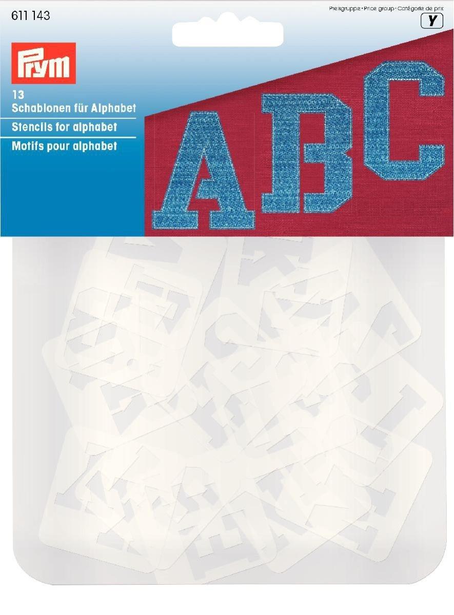 Prym sortierte Schablonen für Alphabet, transparent, 13 Stück ...