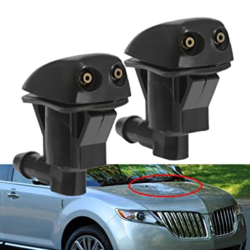 Saihisday Front Windshield Washer Nozzle for Ford Edge 07-10, Ford Focus 08-11, Lincoln MKX 07-10 (One Pair)