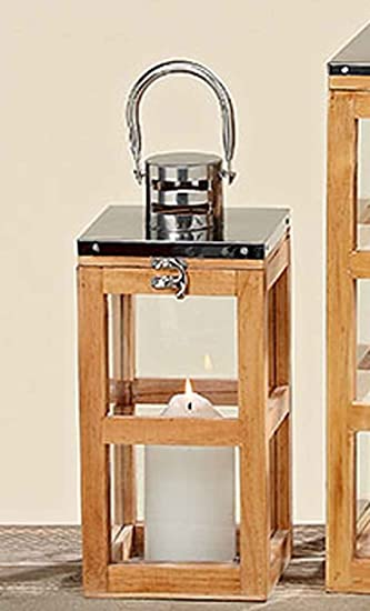 Laterne Montreal Holz Metall Hohe Ca 33 Cm Windlicht Kerzenhalter
