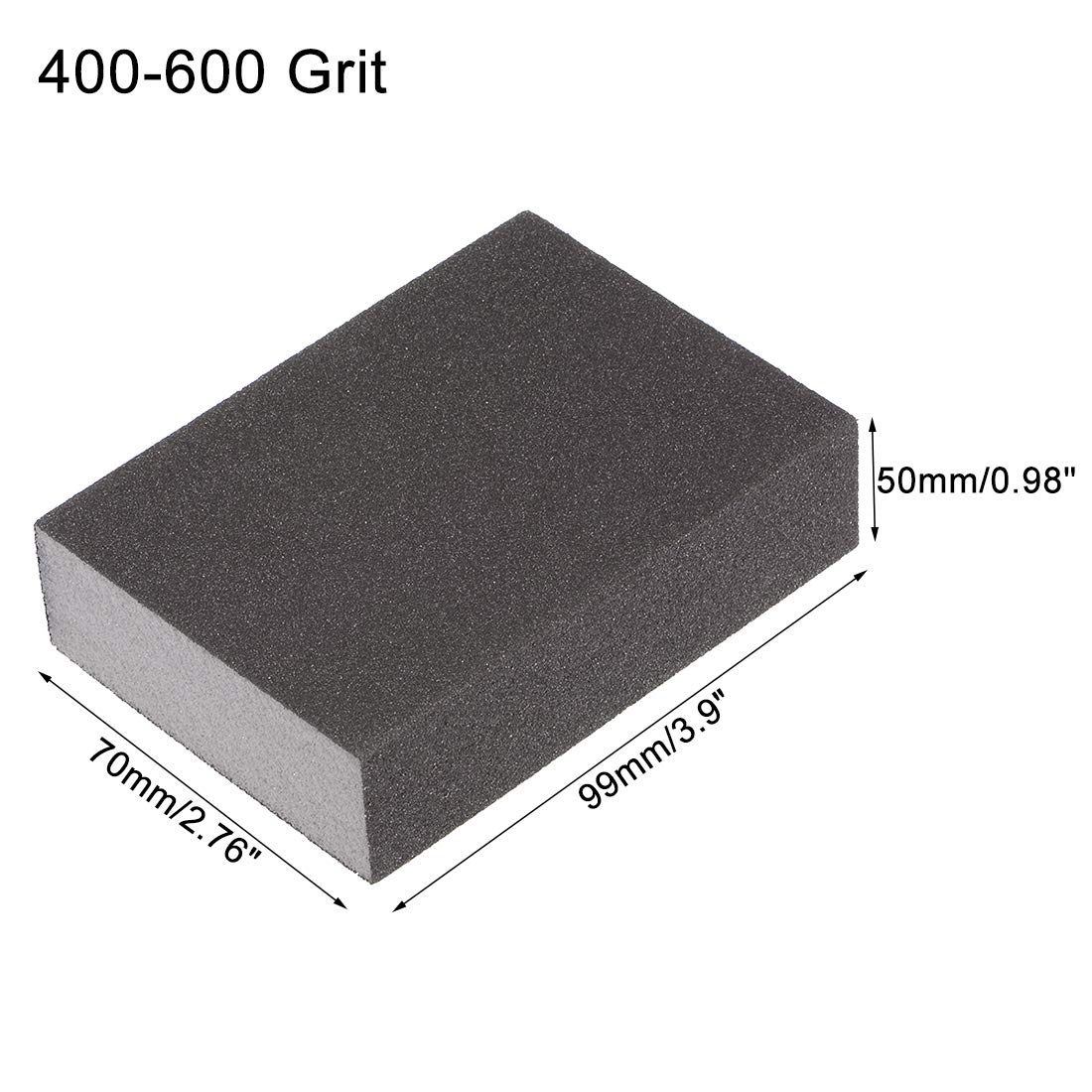 400-600 Grit uxcell Sanding Sponge Block 99mm x 70mm x 25mm a18052400ux0493