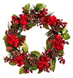 New Creative Red and Green Holiday 26-inch Wreath