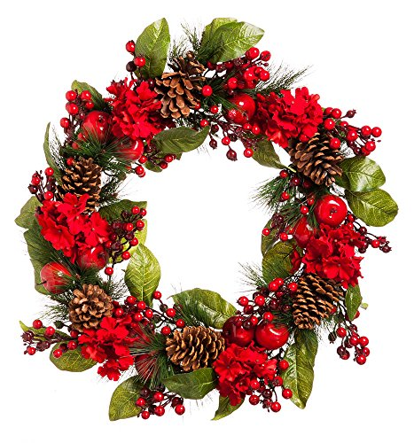 New Creative Red and Green Holiday 26-inch Wreath by New Creative