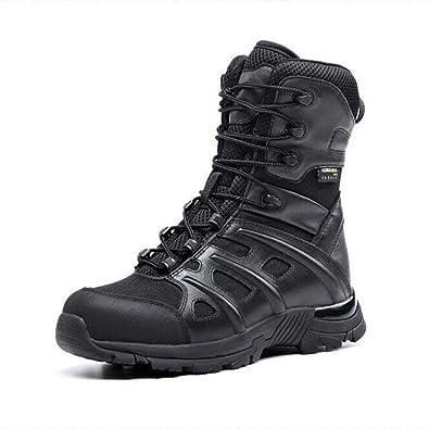 check out e6e11 9d704 QIKAI Taktische Stiefel Wasserdicht Wüstenstiefel 07 ...