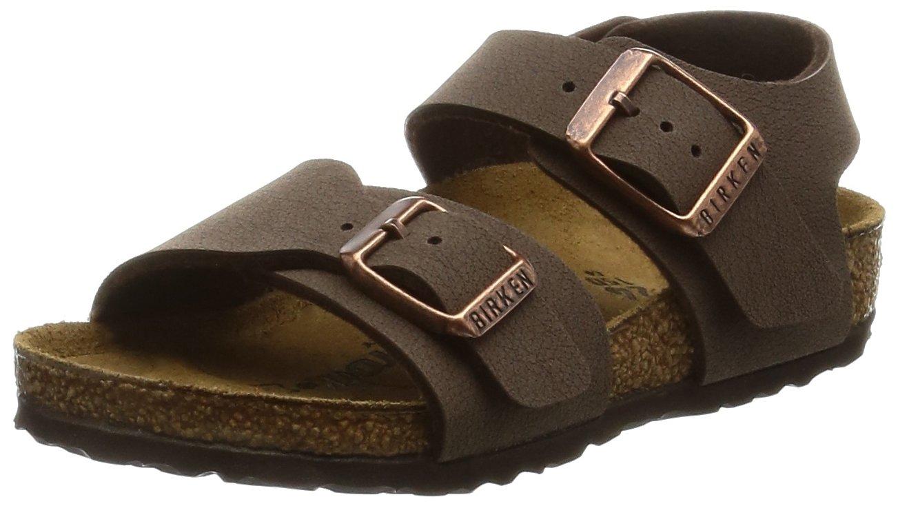 Birkenstock Unisex-Child New York Kids Mocca Birkibuc Sandals 24.0 N EU N 087783 by Birkenstock (Image #1)