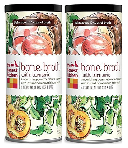 Honest Kitchen The Beef Bone Broth: Natural Human Grade Functional Liquid Treat with Turmeric Spice for Dogs & Cats, 5 oz (pack of ()