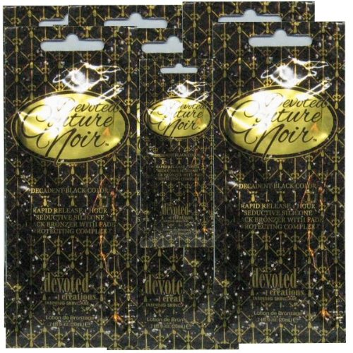 5 Devoted Couture Noir Bronzer Tanning Lotion Packet