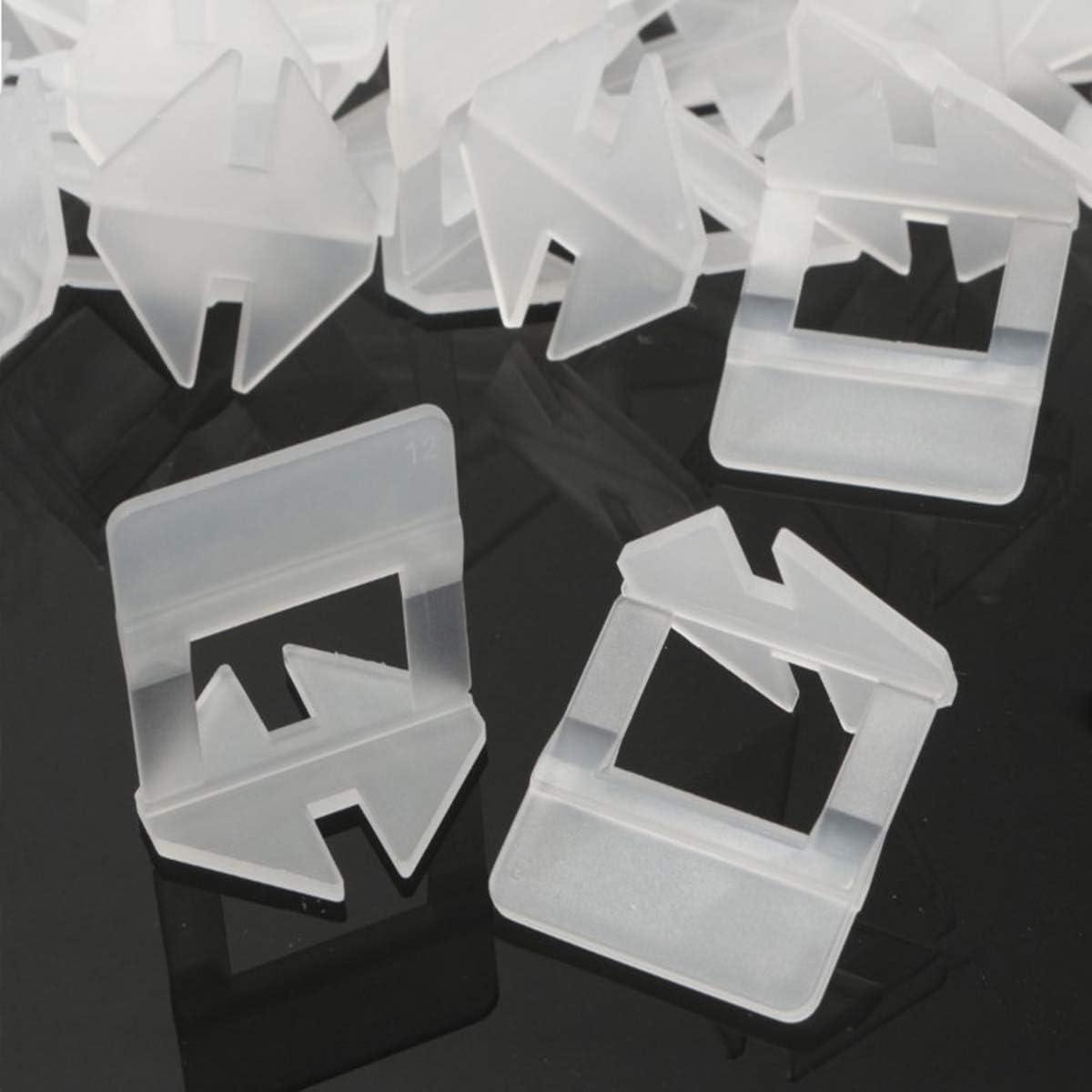 sistema de nivelaci/ón de azulejos Sistema de nivelaci/ón de azulejos color blanco 400 unidades 2 mm