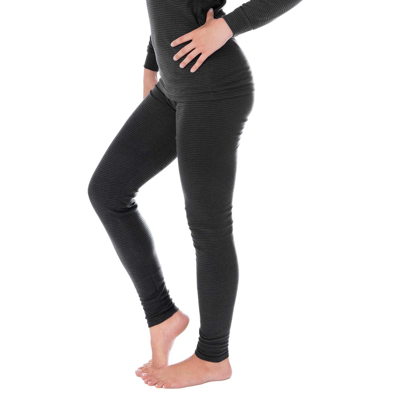 Damen Thermounterwäsche | lange Unterhose | Thermounterhose mit Ringelmuster A1848