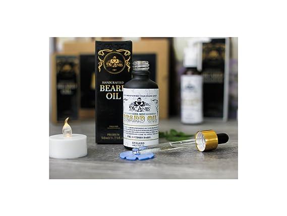 Aceite de barba para cabello rizado y seco, hidratación y nutre tu barba para hombres negros, aroma a menta fresca con aceite de menta fresca: Amazon.es: ...