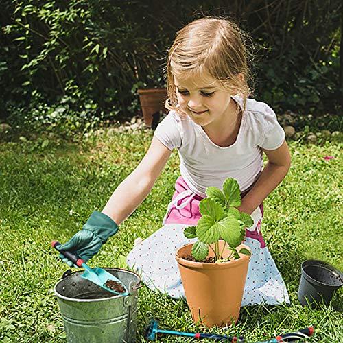 FUN LITTLE TOYS 12 PCs Kids Gardening Tool Set, Outdoor Toys for Kids Includes Shovel, Fork, Rake, Gloves and Apron
