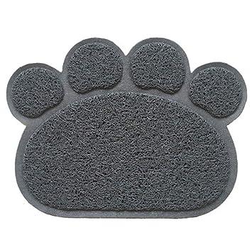 HJYCWDZ Mascotas Perro Gato Felpudo Gato Lanzamiento Mat Gato Gato Perro Inodoro Mat Cat Arena Lavado Matte Negro: Amazon.es: Hogar