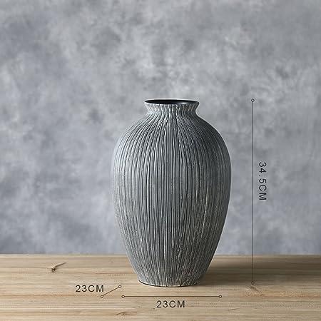 Vasi Per Arredamento Moderno.Vaso In Resina Moderno Minimalista Europeo Arredamento Per La Casa Scandinavo A Righe Grigio B Amazon It Casa E Cucina