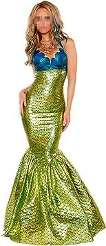 Disfraz de Princesa Sirena para Mujer Cosplay Mermaid Vestido de ...