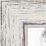 ArtToFrames 12x18 inch Distressed Eggshell on Barnwood Wood Picture Frame, WOM0066-77900-YWHT-12x18