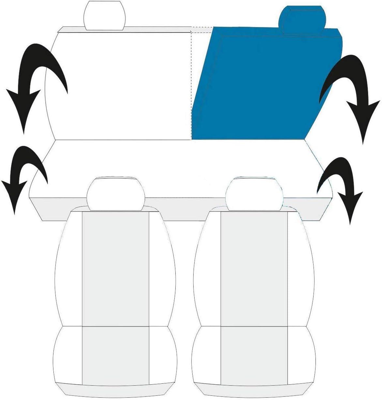 Mimetico Verde Classico Lupex Shop COPRISEDILI COMPATIBILI Auto Sedile Fodere Bicolore Nero
