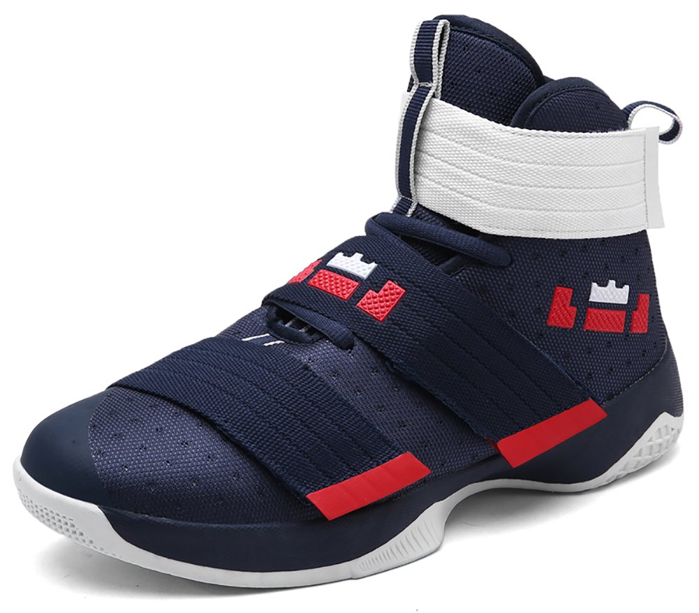 No.66 Town Women's Men's High Top Running Shoes Fashion Sneaker,Basketball Shoes Size Size 9.5/8 Deep Blue